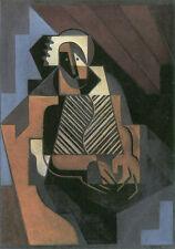 Cubist Modern Art Juan Gris Sitting Peasant Woman Oil Spanish