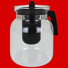 1 5 L Teekanne Glaskanne Mit Deckel Teebereiter Aus Glas Kaffeekanne Teesieb Tee