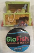 Tetra GloFish Treasure Chest Ornament for Aquariums, Small, Fast Free Shipping