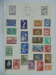 PA 406 - Page Of Mixed Greece Stamps