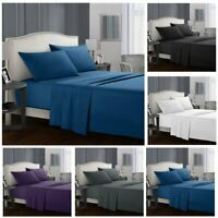 4 Piece Bed Sheet Set 1000TC Comfort Deep Pocket Bed Sheets Twin/Queen/King Size