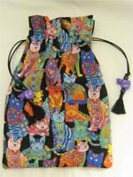 Rainbow Cat Wicca Pagan Tarot Card Drawstring Mojo Bag Pouch ~ FREE SHIPPING