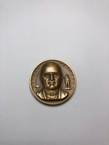 Art Medal Statehood Bronze Coin Father Flanagan Nebraska