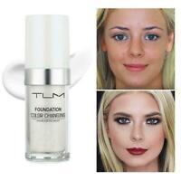 TLM Color Changing Foundation Makeup Base Face Liquid ~new Cover Concealer M1M2