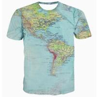 World Map Urban Thread Hipsters Retro Globe Image Graphic T Shirt Casual Tee Top