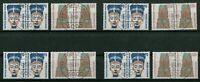 1 x Berlin 814 - 815 waagerechte Paare sauber gestempelt Sehenswürdigkeiten used