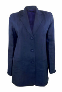 Lynchpin good quality hand stitched navy linen/silk trouser suit