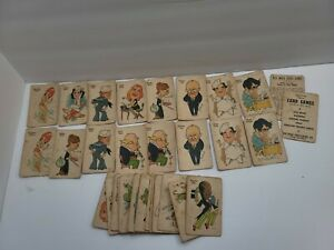 Vintage Whitman 30s 40s No. 5300 Old Maid Authors Complete Deck