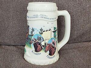 New 1993 BREEDERS CUP TENTH ANNIVERSARY RUNNING OAK TREE SANTA ANITA STEIN MUG