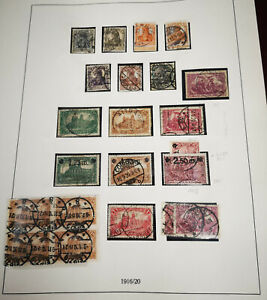 Deutsches Reich Lot zw. MiNr 98-118, gestempelt / * KW ~ 350 € [Z021]