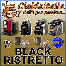 NEW!! 100 capsule CIALDEITALIA  - Gusto BLACK RISTRETTO - Compatibili NESPRESSO