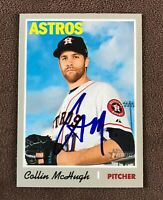 Collin Mchugh Signed 2019 Topps Heritage Autographed Card Auto Astros Angels