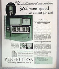Perfection Oil-Burning Stoves & Ranges PRINT AD - 1931 ~~ stove