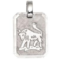 Anhänger Sternzeichen Stier aus 925 Silber teilmattiert Horoskop Silberanhänger