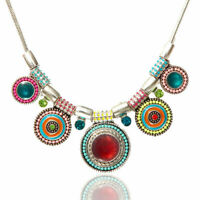 Necklace Jewelry Charm Fashion Pendant Choker Chain Statement Chunky Bib Crystal