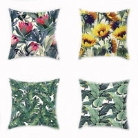 45x45cm Cushion Cover Natura Plant Print Green Leaves Pillow Case Home Hotel