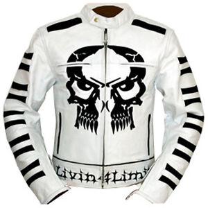 4LIMIT Sports Motorradjacke >crossbones< Rocker Jacke Biker Motorrad Lederjacke