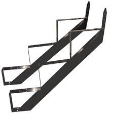 3 Stufen Treppenrahmen Stahl-Treppenwange Treppenholm Geschosshöhe 53cm Grau