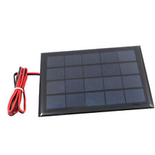 Blesiya Power Solar Panel with Cable for Solar Toy Light Cellphone 5V 500mA