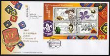Hongkong Bl. 174 FDC, 100 Jahre Pfadfinder