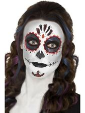 Day of the Dead Makeup Kit Halloween Sugar Skull Fancy Dress Ladies Face