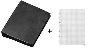 Veloflex Ringbuch A6 Taschenringbuch Ledernarbung  137,5x168x20 mm inkl. Einlage