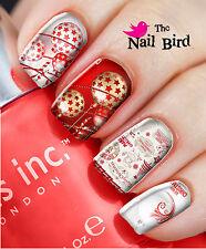 Nail Art Nail Decals Nail Transfers Natural/Acrylic Nails - RED & WHITE XMAS
