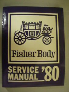 1980  Fisher Body Manual - Cadillac Buick Chevrolet Pontiac