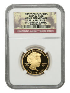 2015-W Maime Eisenhower $10 NGC PR 70 UCAM (Early Releases)