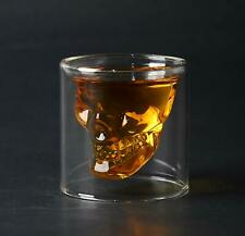 Crystal Skull Design Whisky Glass Cup