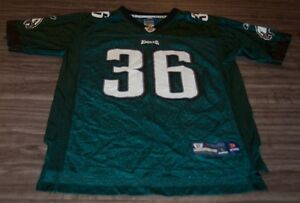 PHILADELPHIA EAGLES #36 BRIAN WESTBROOK NFL FOOTBALL JERSEY YOUTH LARGE 14-16