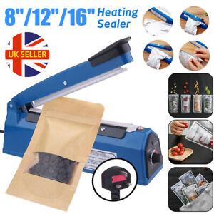 "8"" 12"" 16"" Hand Impulse Heat Heating Sealing Plastic Bags Film Sealer Machine UK"