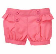 New Gymboree Baby Girls 0-3 mos Pink Ruffled Back Cotton Shorts