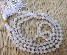 Rainbow moonstone gemstone japa mala beads 108 beads ~ meditation, prayer