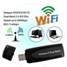 300Mbps Netgear WNDA3100 V3 Dual Band USB Wifi Wireless-N N600 Network Adapter