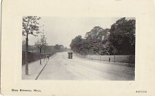 UK LONDON DULWICH DOG KENNEL HILL AND TRAM DIVIDED BACK POSTCARD CIRCA 1907