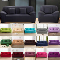 1 2 3 4 Seater Stretch Sofa Covers Protector Couch Cover Slipcover 18 Colors