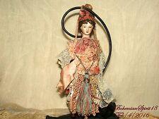 Arturo E.Reyna VICTORIAN MAIDEN Handmade Porcelain HEAD & ARMS HANGING TASSEL