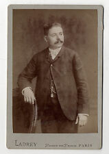 PHOTO - CABINET - Costume Moustaches Homme Paris - LADREY à Paris - Vers 1900