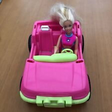 Barbie Doll & Pink Jeep Wrangler Convertible Goodyear Tyres Mattel 1997 & 1999