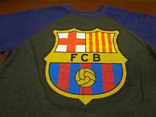 FC BARCELONA Ringer Style T Shirt Top FCB  OFFICIAL MERCHANDISE  Large  Y4