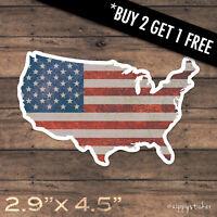 United States Sticker -  USA American Flag Patriot Vinyl Window Laptop Car Truck