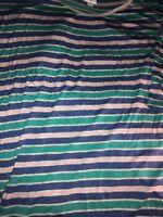 LULAROE Irma Tunic Hi Lo Striped Heathered Gray, Green, Pink Size XL NWT