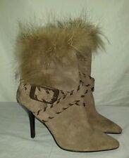Women's Pelle Moda Boots Heels Fur Trim Size 6M