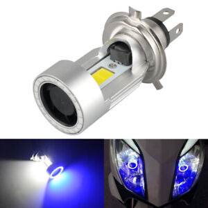 20W H4 HB2 9003 Motorcycle LED Headlight Kit Hi/Lo Power Bulb With Angel Eyes
