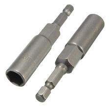 80mm 1/4'' 10mm Handware Magnetic Hex Socket Nut Driver Setter Drill Bit Adapter