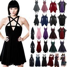 Women's Retro Punk Vintage Gothic Lolita Steampunk Party Dress Cosplay Costume