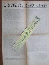 Manifesto volantino seconda guerra mondiale DONNA SORRIDI Emilio Scaglione 1944