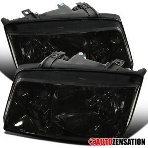 For 1999-2005 Volkswagen Jetta Bora MK4 Smoke Headlights Head Lamps Left+Right