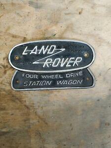 Genuine Landrover Series Station Wagon Cast Badge